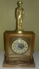 1950s LANSHIRE Self-Starting MILITARY OFFICER Shelf or Mantel Clock - Model T3