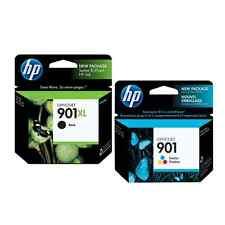ORIGINAL HP Tintenpatronen Nr. 901xl schwarz CC654AE + Nr. 901 3-farbig CC656AE