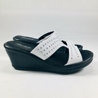 Skechers Rumblers Wave - Ibiza Summer White Womens Wedge Sandals Size 8