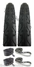 "Kenda K838 Pair City Slick Black Bike Tire 26"" X 1.95"" Tubes & Rim Strips Kit"