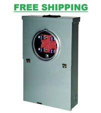 100-Amp 10-Space 20-Circuit Meter Socket Main Breaker Outdoor Overhead CSED Box