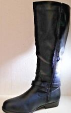 Journee Collection April Women Round Toe Synthetic Black Knee High Boot, Size 10