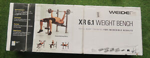 Weider WEBE60610 6.1 Multi-Position Weight Bench with Leg Developer and Exercise