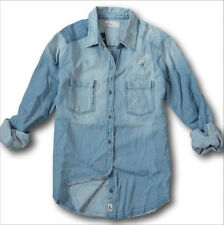 NWT Hollister by Abercrombie&Fitch Women's Shirt Distressed Denim Flannel Plaid