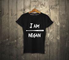 I am NEGAN T-shirt 100% Cotton UNISEX T-shirt The Walking Dead NEGAN Tee NEW