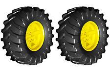 2 Lego TRACTOR Tires + Wheels (technic,tire,tread,xerion,trac,all,terrain,truck)