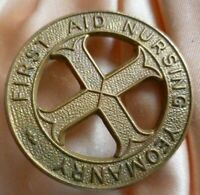 First Aid Nursing Yeomanry Regiment Cap Badge FANY All BRASS 2 Lugs Antique Org
