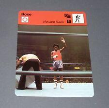 FICHE BOXE BOXING HOWARD DAVIS JEUX OLYMPIQUES 1976 POIDS LEGERS