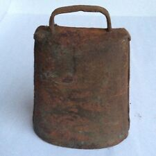 "Vintage Primitive Metal Farm Cow Bell Rustic Farmhouse 5-3/4"" Tall"