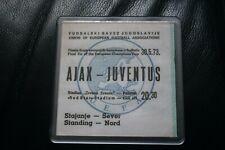 Ajax v Juventus 1973 European Cup Final Ticket Coaster