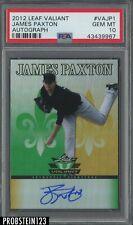 2012 Leaf Valiant James Paxton Yankees RC Rookie AUTO PSA 10 GEM MINT POP 2