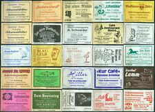 25 alte Gasthaus-Streichholzetiketten aus Deutschland #877