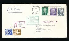 GB POSTAGE DUE 1971 from USA 4p + 3p GERRARDS CROSS LIABLE TO SECOND CLASS BOXED