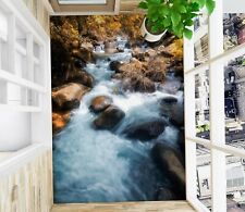3D Grass Stone River SKE183 Floor Wall Paper Wall Print Decal Wall Deco Bea