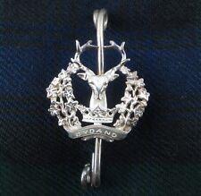 Rare Bespoke Clan Gordon Gordon Highlanders Sterling Silver Kilt Pin
