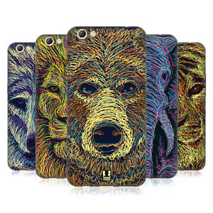 HEAD CASE DESIGNS SCRIBBLE ANIMAL FACES SOFT GEL CASE FOR OPPO PHONES
