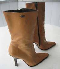 Sexy Buffalo High Heel Stiefeletten Leder beige Gr. 40 Absatz 12,5 cm wie 11480