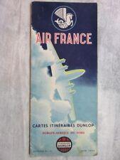 114 - Air France 1954 - Cartes itinéraires Dunlop - Europe Afrique du Nord