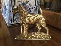 Antique English Brass Dog Door Knocker Circa 1900