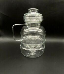8 Cup 2 Qt Glass Tea Pot Infuser Removable Loose Leaf Filter Tea-light Warmer