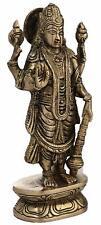 Hindu Idol Figurine Brass Sculpture Statue God Vishnu Standing 7.75 inches