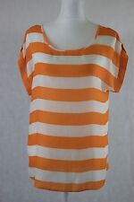 Orange & White Jones New York Sport Women's Polyester top size small (S)