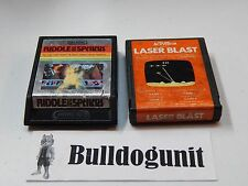 Game Lot of 2 Riddle of the Sphinx & Laser Blast Atari 2600 Games