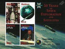 VOYAGER 1 Probe / 50 Years of Space Exploration Stamp Sheet / 2008 Maldives