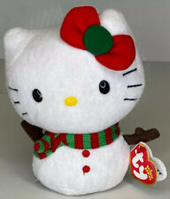Ty Beanie Babies Hello Kitty - Snowman Christmas outfit  W/Bow Outfit