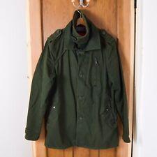 Superdry Jeremy Street Trench Coat, Men's Size XXL Khaki Army Green Coat