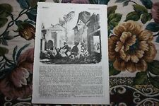 1848  Stich X / Erdbeben Italien Lorenzana Pisa