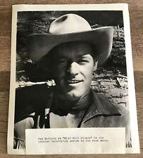 EXC ORIGINAL GUY MADISON WILD BILL HICKOK 1950s STUDIO PROMO 8x10 BW TV PHOTO!