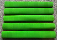 5x CHEVRON Cricket Bat Grips - FLURO GREEN- Oz Stock