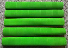 10x CHEVRON Cricket Bat Grips - FLURO GREEN- Oz Stock