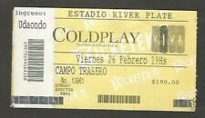 Argentina Coldplay Concert Ticket Stub 2010