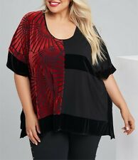 Taking Shape Black & Red Tunic/ Kaftan Short Sleeve Size 16-20 or M