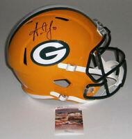 PACKERS Aaron Jones signed Full Size Speed Replica helmet w/ #33 JSA COA AUTO