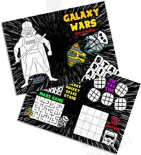 Pack of 12 Galaxy Wars Fun and Games Activity Sheets Party Bag Star Fillers