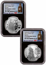 2017 Great Britain Big Ben 2-Coin Set 1 oz Silver £2 NGC PF70 UC Black SKU53766