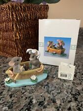 """Fitz & Floyd Charming Tails """"Row Boat Romance"""" Mouse Figurine #83/801"""