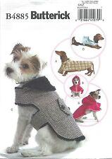 BUTTERICK 4885 SEWING PATTERN PET DOG COATS XS-L NEW UNCUT