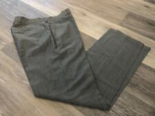 HUGO BOSS GRAY WOOL MOHAIR FLAT FRONT PANTS SZ 32R GREAT BASIC