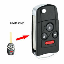 US For Honda Accord Civic CRV 3+1 Button Folding Flip Key Shell Remote Case Fob