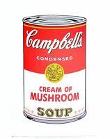 Andy Warhol Campbell's Soup I cream of mushrooms Poster Kunstdruck Bild 36x28cm