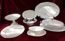 Partie de service de table Victoria China Czechoslovakia Art Deco @