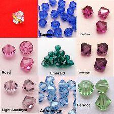 5 x 8MM Genuine SWAROVSKI Crystal 5301 5328 BICONE / Xilion BEADS Assorted Color
