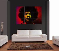 Jimi Hendrix Vector Gigante De Pared Art Print imagen Cartel