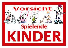 2010 Vorsicht spielende Kinder Schild Kunststoff Achtungsschild Vorsicht Kinder