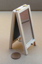 1:12 escala doble cara pequeña plegable piso espejo muñecas casa dormitorio accesorio