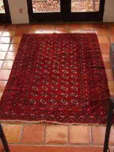 ANTIQUE BUKHARA wool rug, 5 1/2' by 8 1/2',  fine condition